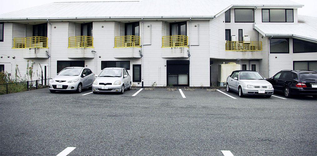 山口医院の駐車場